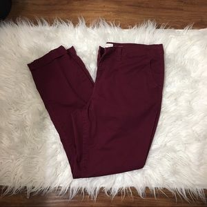 A New Day Maroon Jeggings Sz 12